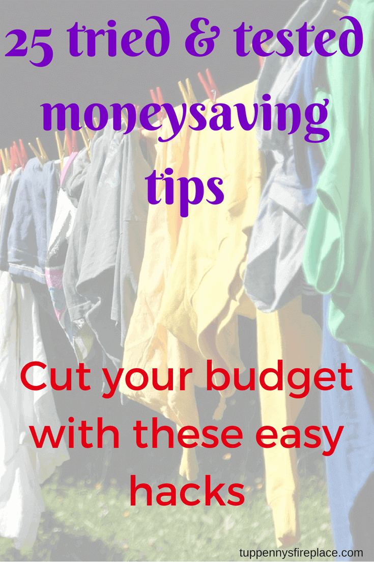 tried & tested moneysaving tips