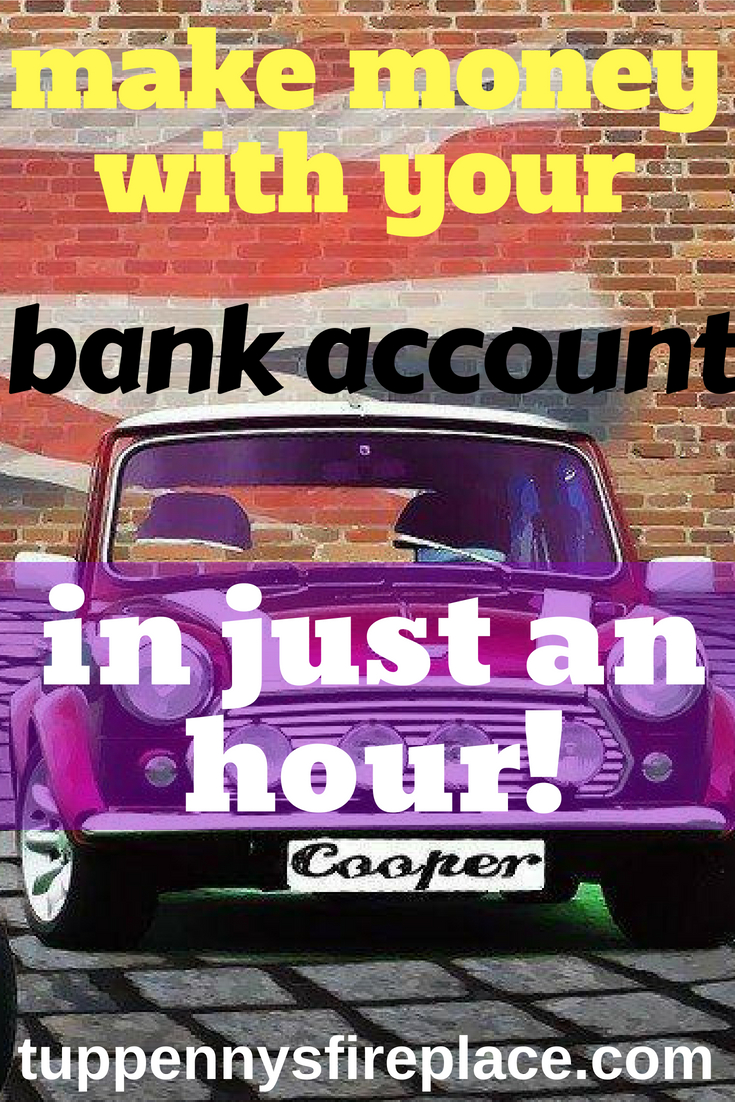 make money with your bank account - in just 1 hour. Earn money online from home with this easy side hustle. Step by step hints and tips to earn hundreds. #makemoney #money #savemoney