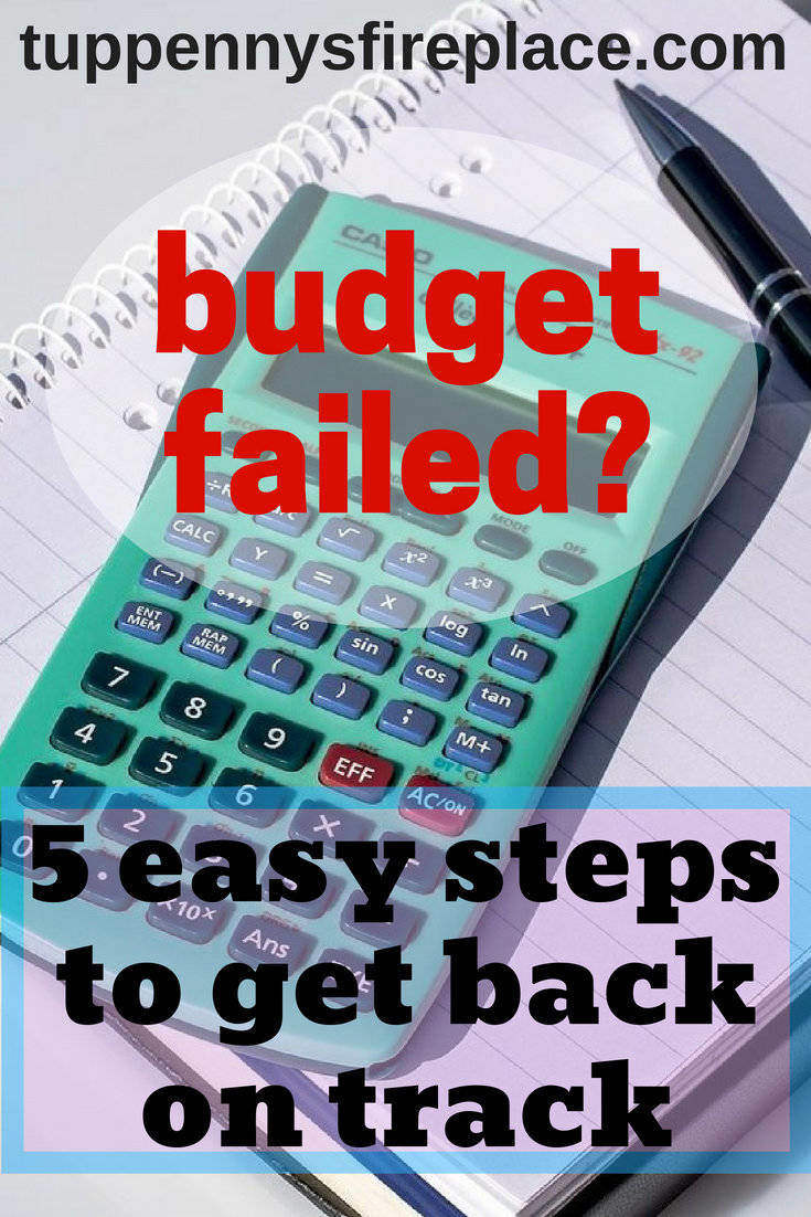 How to get your budget back on track, when you've become lazy! 5 easy tips to get your budget back on track so you can save your money or pay off debt like you planned. Your budget plan is key to your savings goals. #budget #savemoney