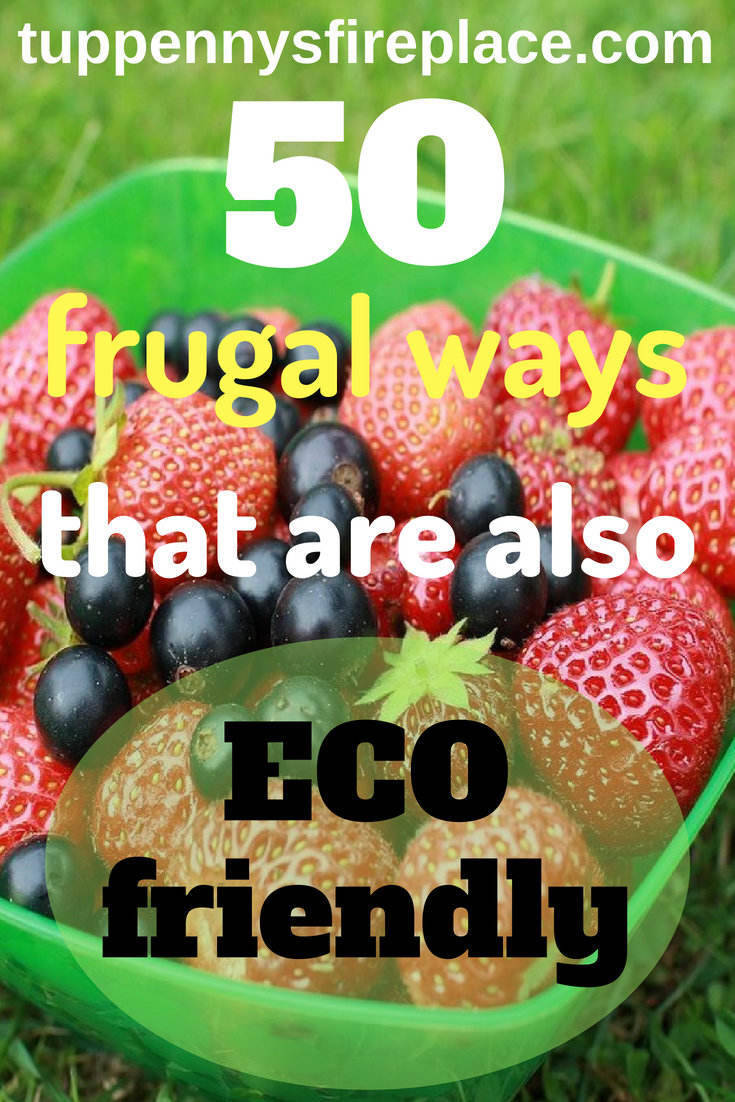 A frugal lifestyle encompasses simple living and is environmentally friendly too. You find ways to save money and you help save the environment. Frugal living can be very eco friendly. These frugal hints, tips and tricks will help you save money and feel great. #frugal #savemoney #money #ecofriendly #environment #eco #savingmoney #simplelife