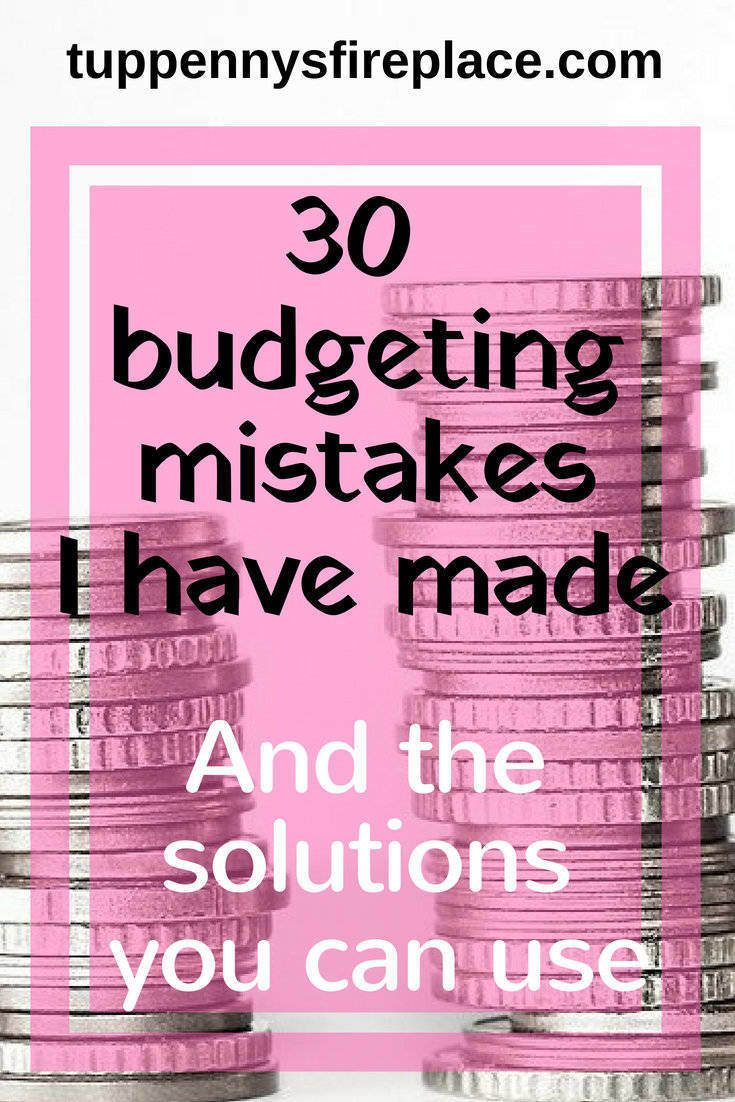 30 budgeting mistakes and the solutions you need. Create your budget knowing these money tips. Save money and pay off debt with a great budget. #personalfinance #finances #budget #budgeting #budgettips #savemoney #savingmoney #payoffdebt #debtfree