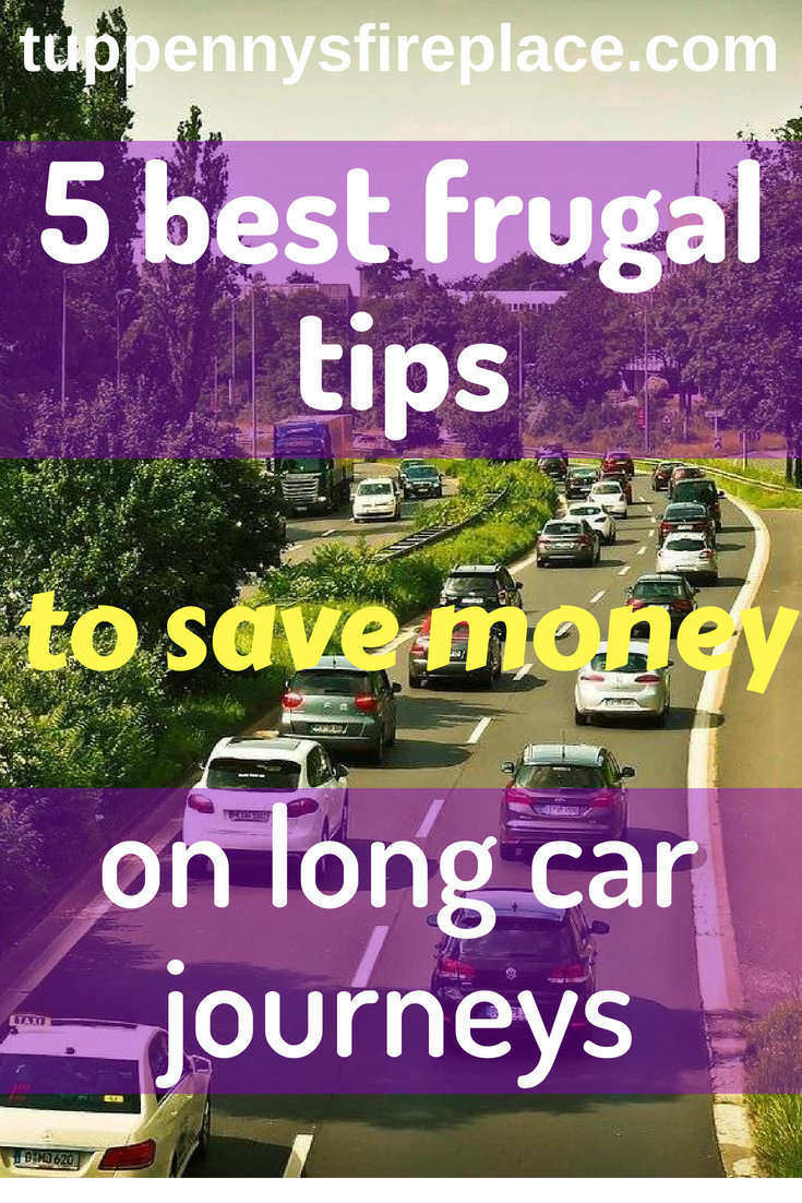 5 frugal tips to save money on long car journeys. Read these tips to see how you can save money and budget for a road trip or holiday. Save money on fuel, food and drinks with these frugal tips. #frugal #savemoney #budgeting #roadtrip #carjourney