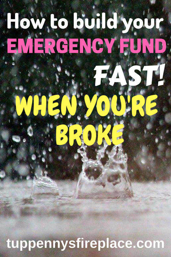 How to kickstart your rainy day fund when you are broke. Save cash into an emergency fund and you will stress less about your money. Emergency cash covers your unexpected bills and having those savings is key to getting your finances in order. #emergencyfund #rainydayfund #savemoney #stressless #finances #personalfinance #savingmoney #budgettips #budget #savecash