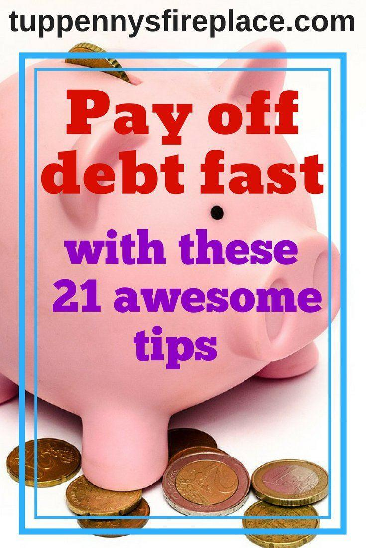 Become debt free by following these 21 finance tips. Money saving tips, budgeting tips and personal finance advice to help you tackle your debt. #debtfree #budget #savemoney #budgeting