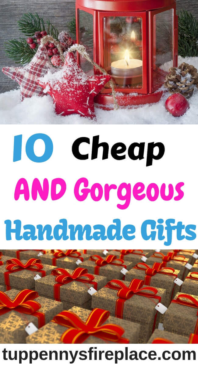 10 Fabulously frugal homemade Christmas gifts that don't involve cooking. Christmas gift ideas that you can make on a budget. These are cheap DIY gifts perfect for Mum, for Dad and for Grandparents. #christmasgiftideas #christmasgifts #christmasgiftsdiy
