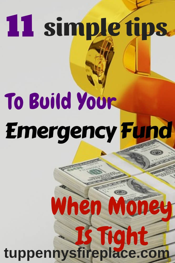 How to build your rainy day fund. Saving money ideas to help you stress less about your money goals. An emergency cash stash covers your unexpected bills and helps you manage your money and your finances. #emergencyfund #savemoney #personalfinance #savingmoney #budgeting