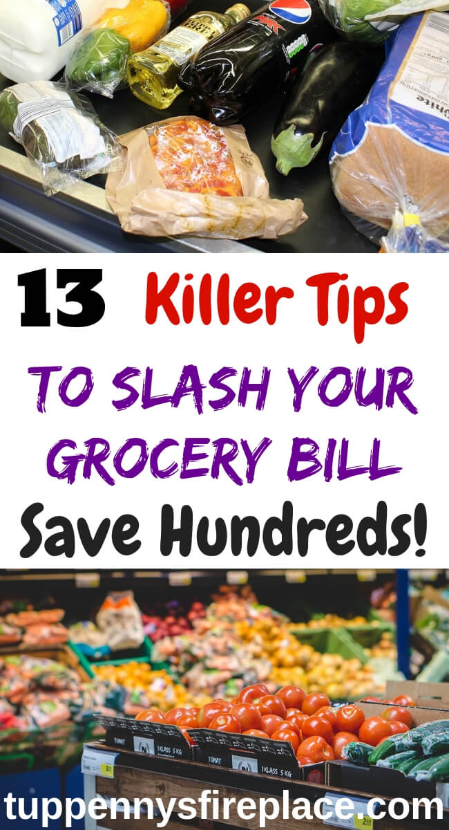 Awesome money saving tips and budgeting tips to cut your grocery bill. Shopping tips to save money and eat well on a budget. Feed your family for less. #savemoney #budgeting #savingmoney