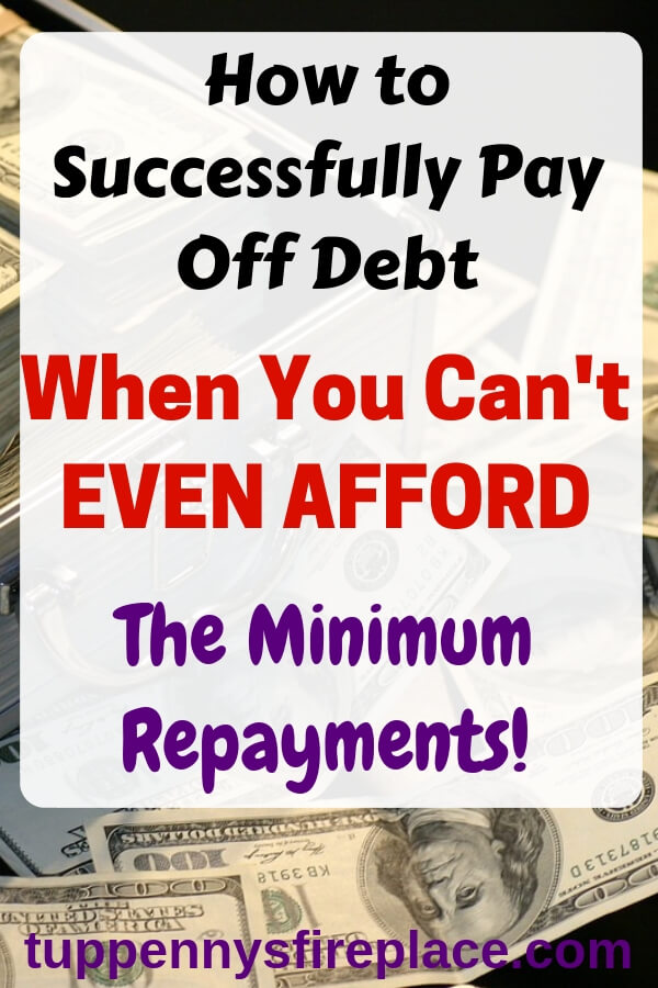 When you want to get out of debt but you can't afford the minimum repayments. Debt payoff via the snowball method won't work. You need debt management help. #payoffdebt #debtfree #debtmanagement