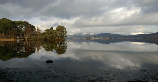 derwent water reflection - how to save for a vacation