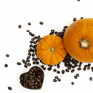 pumpkins and coffee beans