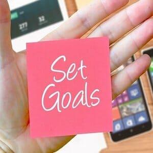 post it note set goals