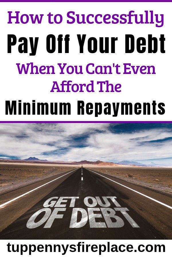 Thank you so much for this advice! Just what I needed. When you want to get out of debt but you can't afford the minimum repayments. Debt payoff via the snowball method won't work. You need debt management help. #payoffdebt #debtfree #debtmanagement