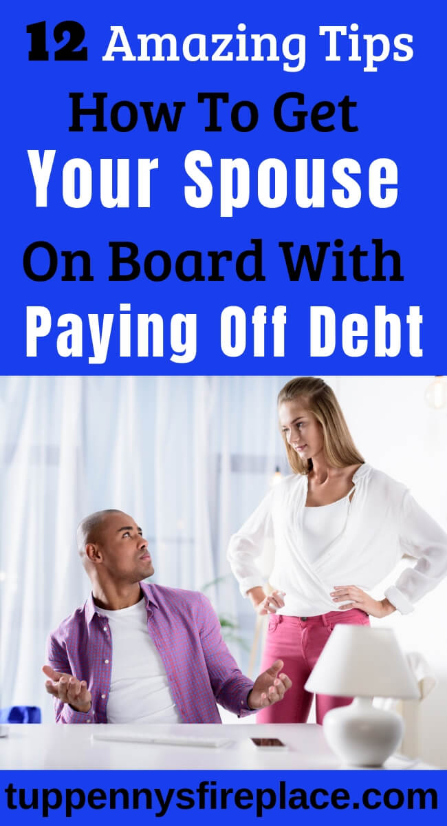 12 great tips on how to work with your partner to crush your debt. Stop debt in marriage becoming a problem. Pay off your spouse's debts and grow closer as a couple. #marrieddebt #spousedebt #debtinmarriage