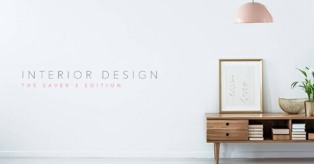 interior design picture of low table and mirror