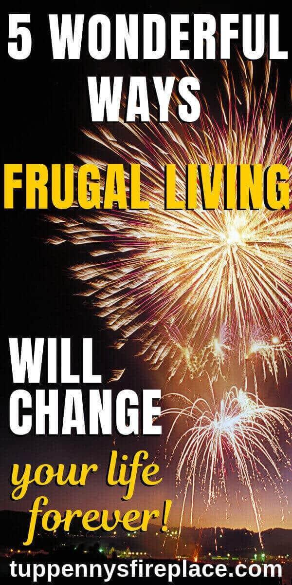 pinterest image of fireworks - being frugal