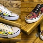 picture of 2 pairs customized canvas shoes