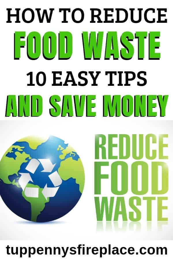 pinterest image regarding how to reduce food waste