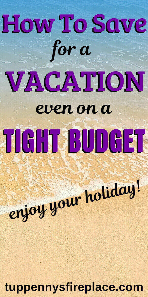 Pinterest image of beach - how to save for a vacation