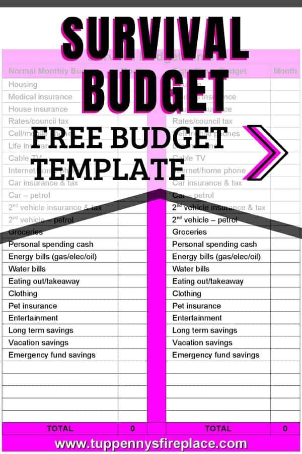 blank budget template