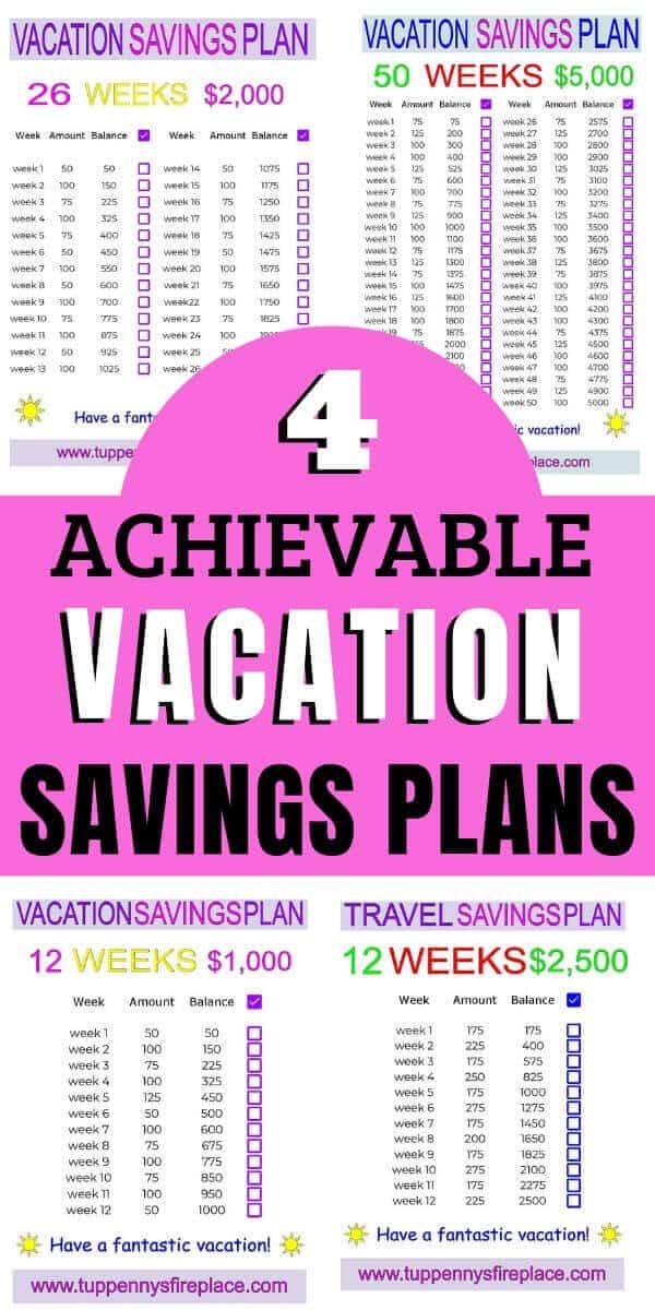 pinterest image of 4 vacation savings plans