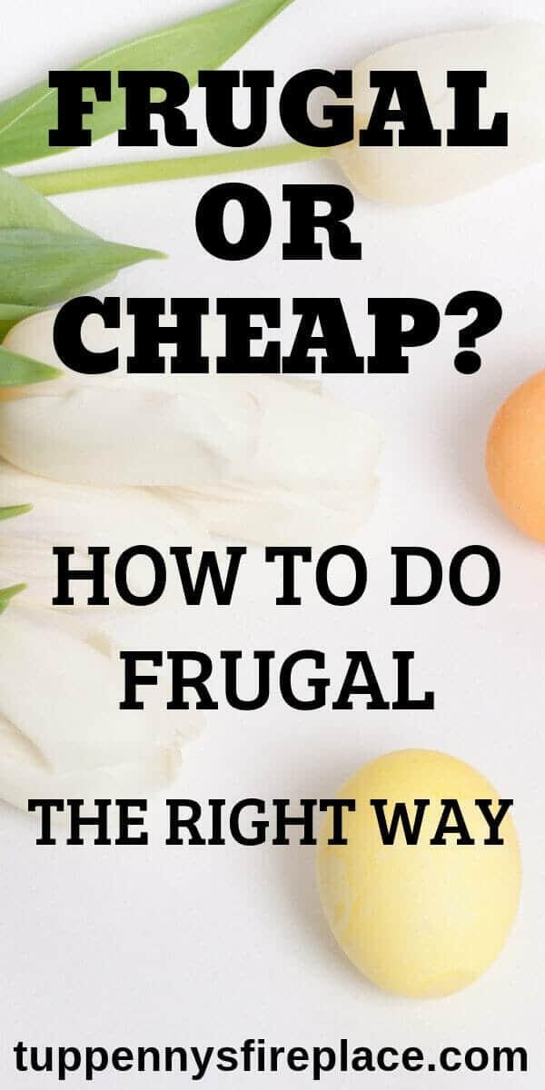pinterest image for frugal vs cheap post