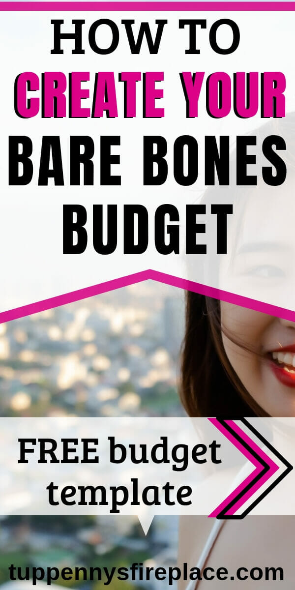 pinterest image for survival budget & tight budget